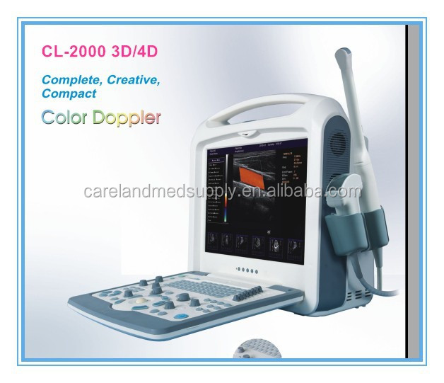 "15"" CE approved gynecology cardiac pregnancy Digital laptop Color scanner Doppler Portable 3D 4D Ultrasound Machine"