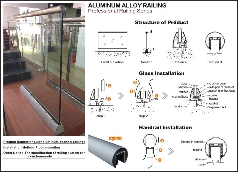 Aluminum U Base Channel Glass Balustrade Railing Buy