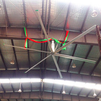 Aipukeji 16ft Airfoil Alloy Blades Ceiling Mounted Large HVLS Ventilation Fan