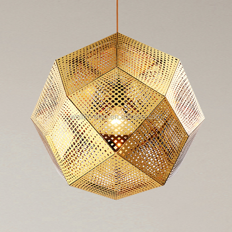 Gold Chrome Stainless steel Ball Haing Light, Decoration Glisten Drop Ceiling Lighting For Hotel/Home/Shop