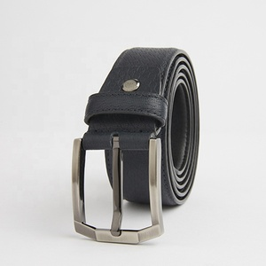 Color Box Packing blue leather belt men casual