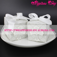 Christening Wedding Favor Boxes 2017 Gray Cross Candy Boxes Sweet Gift Box with Ribbon Event & Party Supplies