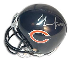 Autographed Thomas Jones Chicago Bears Mini Helmet - 100% Authentic Autograph - Genuine NFL Signature - Perfect Sports Gift