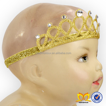 Baby Shiny Crown Headband With Rhinestone Designer Sequin Elastic Hairbands