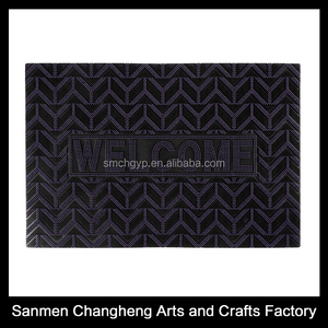 Made In China Garden PVC welcome cheap Door Mat