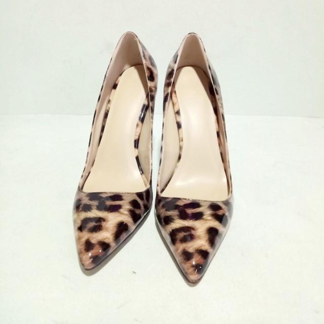 2db55645 Último nuevo modelo Leopardo de impresión de patente de cuero de las mujeres  Summear vestido de