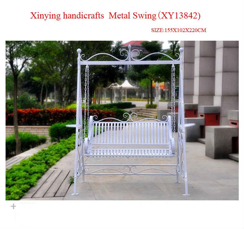 Wrought Iron Metal Garden Swing Chairs Manufacture