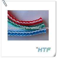 Hollow 1/4 inch 6mm coloured braided poly cord / polypropylene rope