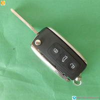 Hot sale Remote Key for VW Phaeton 3 Button Flip Remote Key Shell