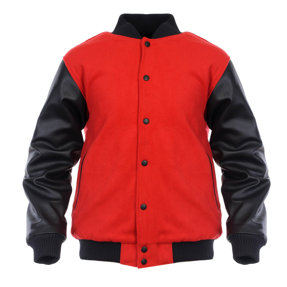 Varsity Jacket With Leather Sleeves For Men,Wholesale Leather ...