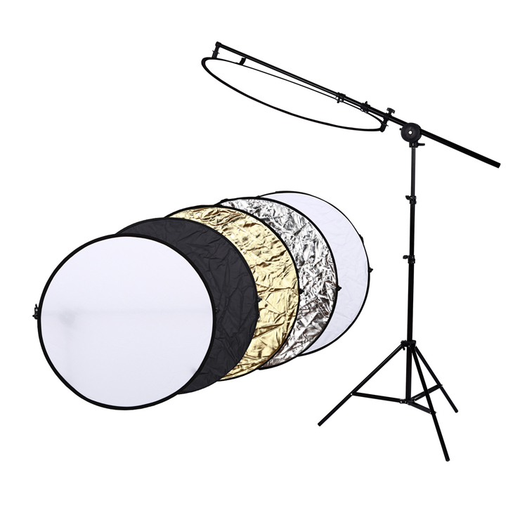 "Fosoto 24"" 60cm 5 in 1 Portable Collapsible Light Round Photography Reflector for Studio Multi Photo Disc"
