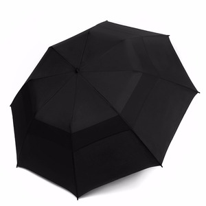 Windproof Double Vented Umbrella Wind Resistant Strong Open Close Compact Folding Umbrella