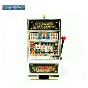 Coin operated slot machine and bingo game machine with music for kids