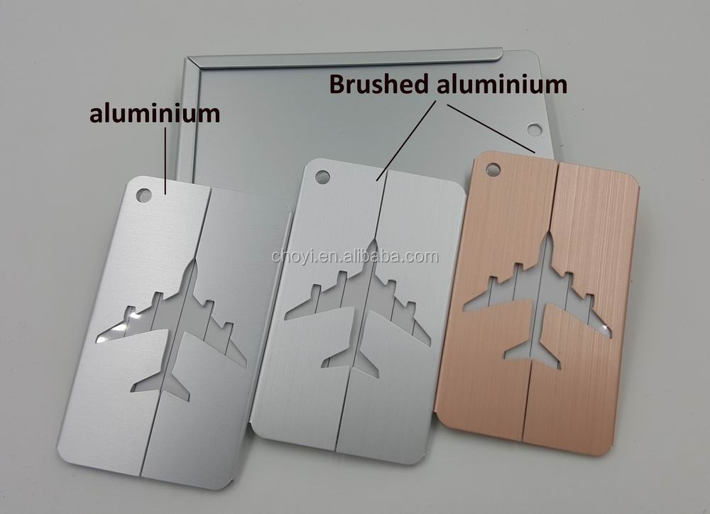 High Quality Airplane Metal Luggage Tag Standard Size Luggage Tag
