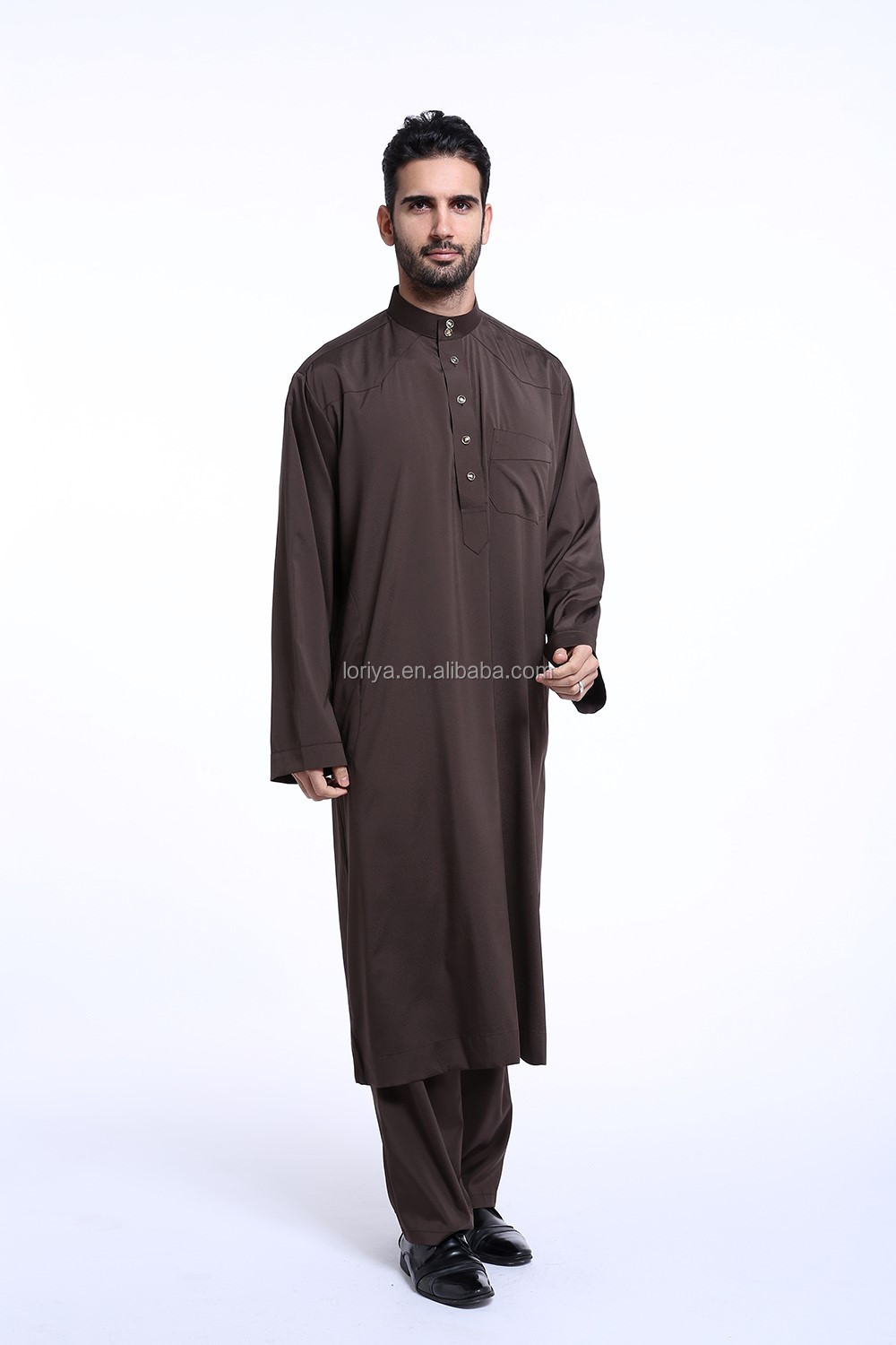 Muslim long abaya dress for men latest design new islamic kaftan high quality men abaya