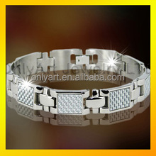 Fashion steel bracelet for men best selling 2016 luxury bracelet