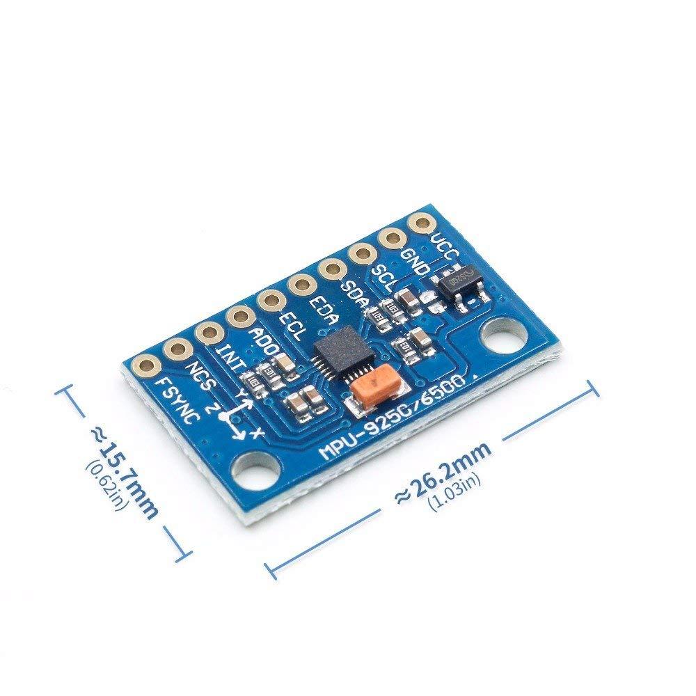Yoneix 1Set SPI IIC/I2C GY-9250 MPU 9250 MPU-9250 9-Axis Attitude +Gyro+Accelerator+Magnetometer Sensor Board Module MPU9250 3-5V(1PCS)