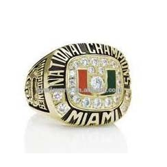 manufacturer custom 1991 miami hurricanes championship rings china