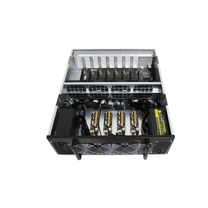 Wholesale 12 GPU ethereum bitcoin mining rig machine for ETH/ZEC/ETC/HCASH  Miner without GPU