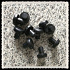 Factory direct sale 10mm black rubber plug for hole