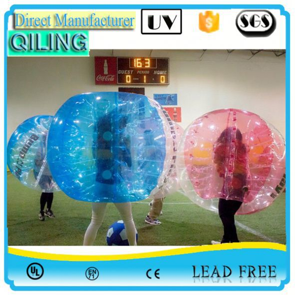 qiling Most attractive 0.8mm PVC pvc/tpu bubble soccer gif on sale