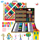 Hot cardboard packing big cute stationery set for kids Inspiration Art Case