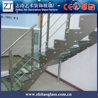 5 + 5 mm Europe type spiral staircase toughened glass to protect the wall