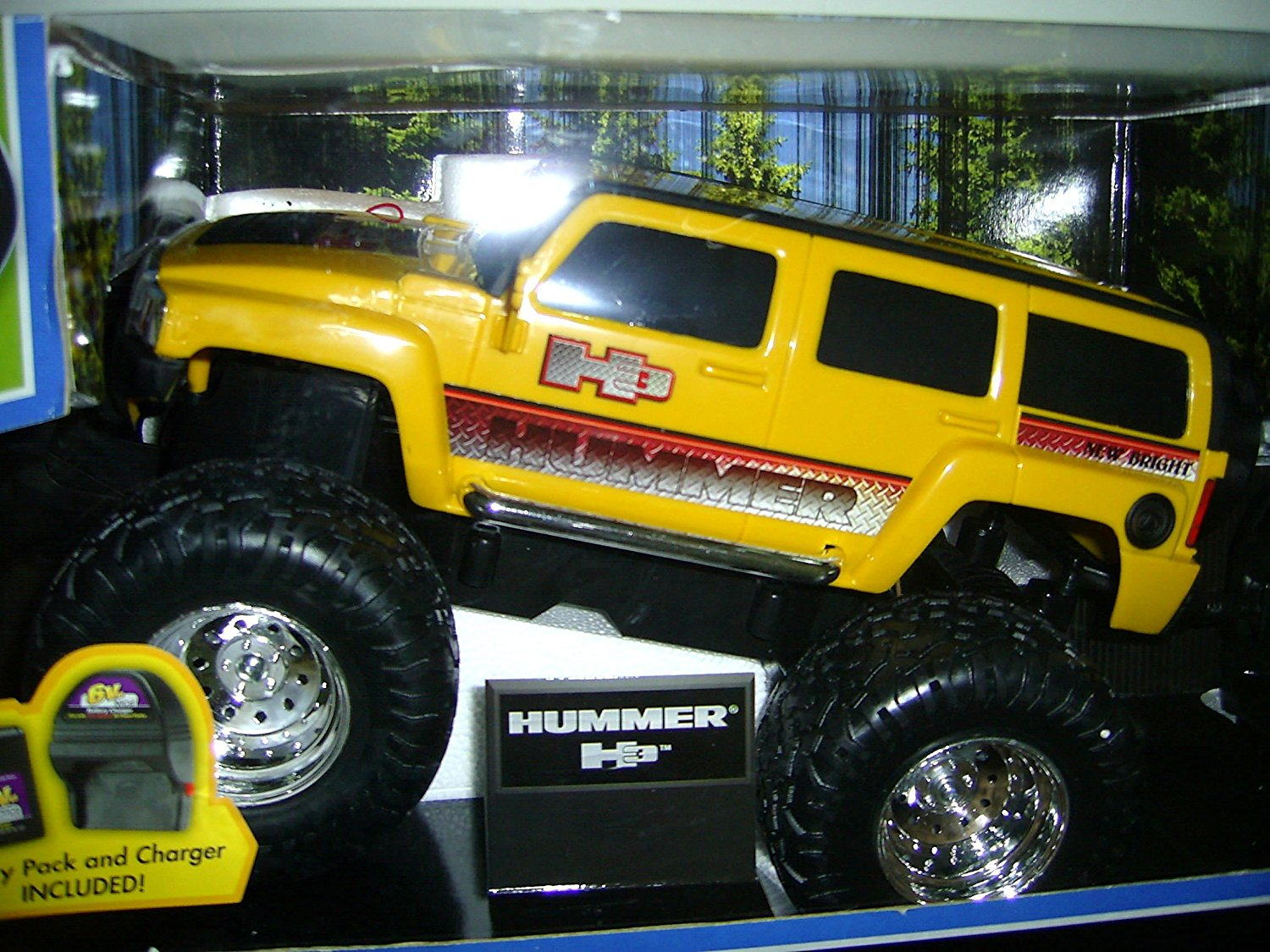 Get Quotations · 1:14 Scale Hummer H3 Yellow Radio Control Vehicle Full  Function