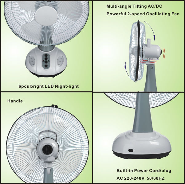 rechargeable table fan