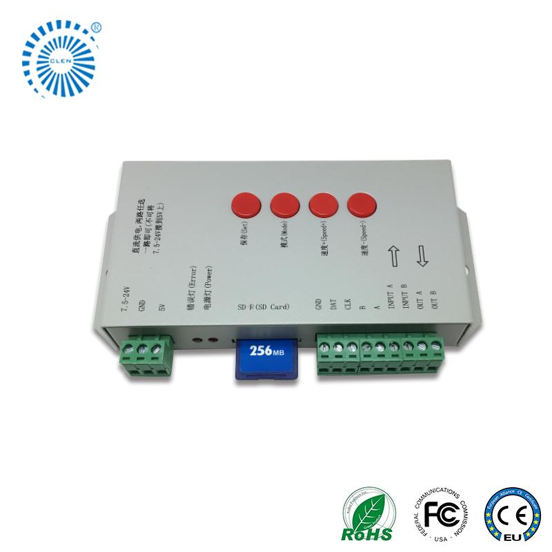 online retailer 2f16f 27f0e T-1000c-port 512 Lights Sd Card T1000 Pixel Controller Ws2812b Led Strip -  Buy Rgb Program Controller,Pixel Controller T100k T200k T300k,Spi Led ...