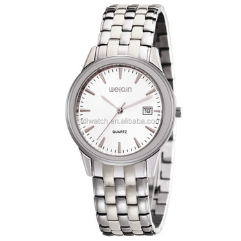 Men S Solid Stainless Steel Water Resistant Quartz Watches 3 Bar