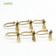 New Design Gold Leaf Shape Decorative Shower Curtain Tie Back Hooks