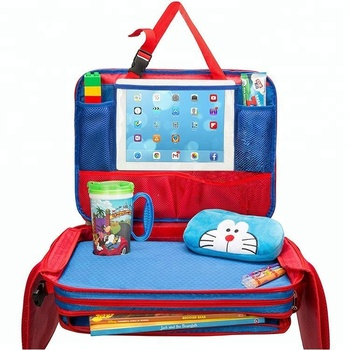 Toddler Kids Child Car Seat Travel Food Tray Cup Baby Pocket Back Hold Organizer