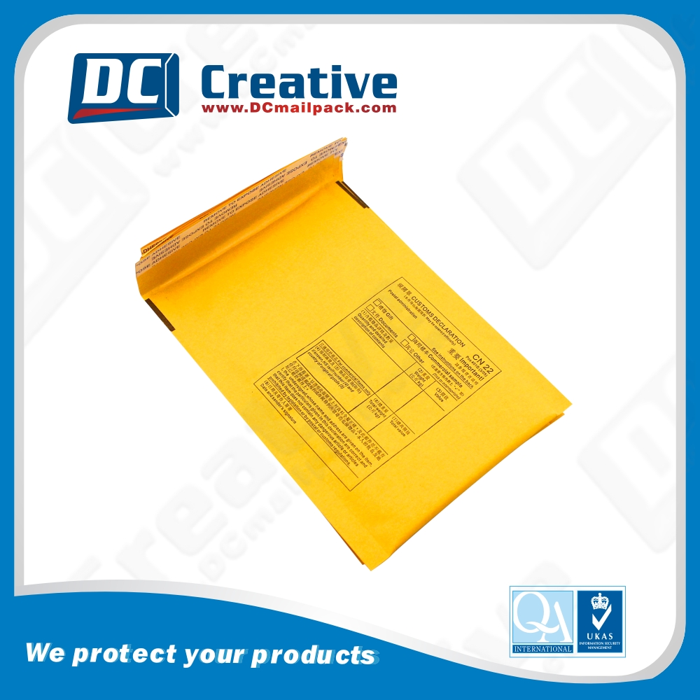 Customized Logo Seal Adhesive quality air kraft shipping padded envelope jiffy bags bubble envelope