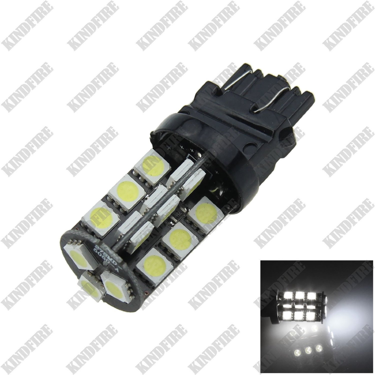 Kindfire 1X White 3156 3157 27-SMD 5050 LED Canbus Error Free Rear Light Brake Bulb F014
