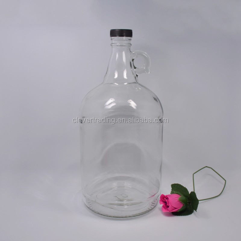 3L screw cap California wine bottle with ear huge red wine bottle