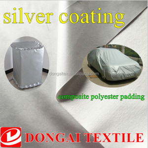silver waterproof car cover fabric Spunlace non-woven cotton 3 layers of composite material