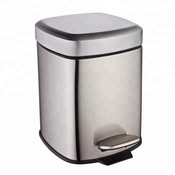 6l/12l/20l/30l Kitchen Square Step Pedal Stainless Steel Trash Can Trash  Bin - Buy Stainless Steel Trash Can,Pedal Trash Can,Stainless Steel Trash  Bin ...