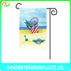cheap custom funny cartoon sublimation garden flag for birthday