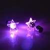 Fashion Stainless Steel Unisex Star Shape Light Up LED Bling Earrings