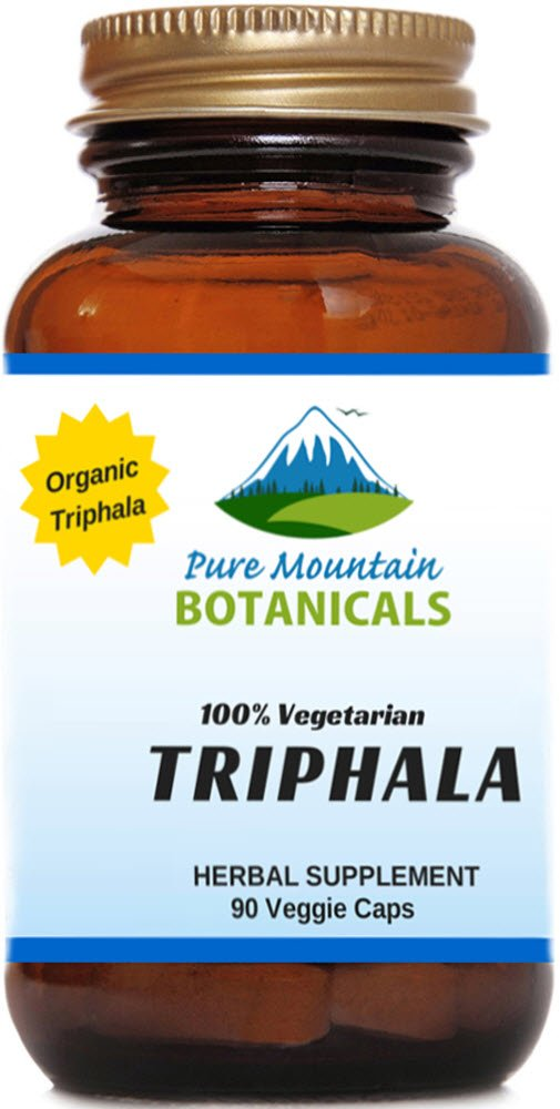 Full Spectrum Triphala. 90 Kosher Veggie Capsules. 500mg Organic Triphala Fruit Blend Powder