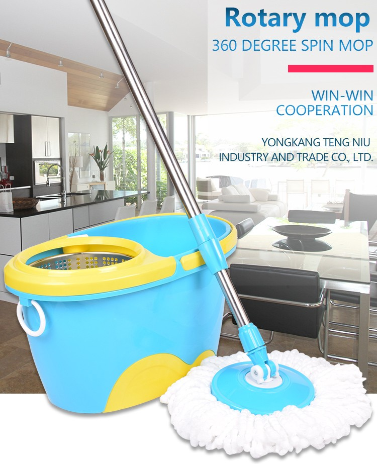Home Helper 360 Spin Mop Used Commercial Cleaning