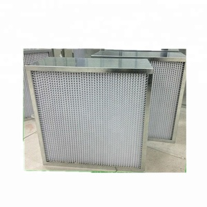 Deep-pleat HEPA/ULPA Filter glassfiber media with stainless steel frame