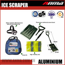 Multi-function LED torch safety vest folding handle heated plastic snow shovel