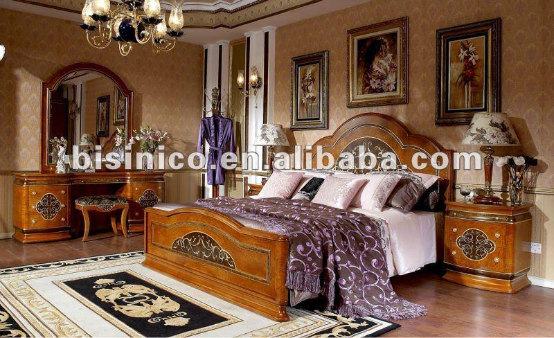 Style am ricain classique en bois accueil meubles de chambre coucher ensemble moq 1 for Chambre a coucher style