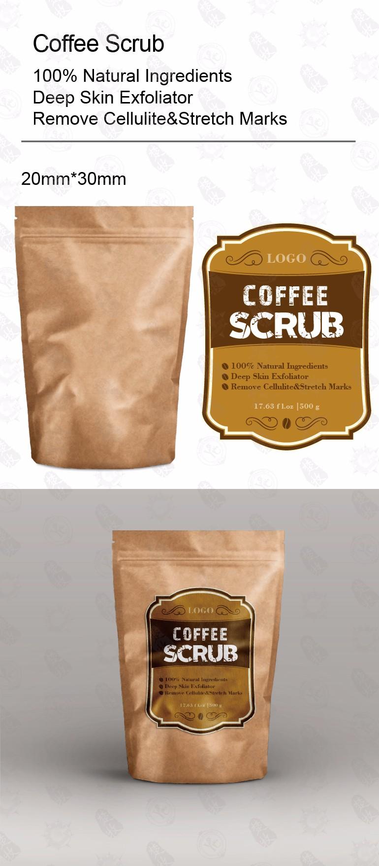 Körperpflege Großhandel Kraftpapier Private Label Kaffee Peeling Für  Erwachsene - Buy Körper Kaffee Peeling,Kaffee Peeling,Private Label Kaffee
