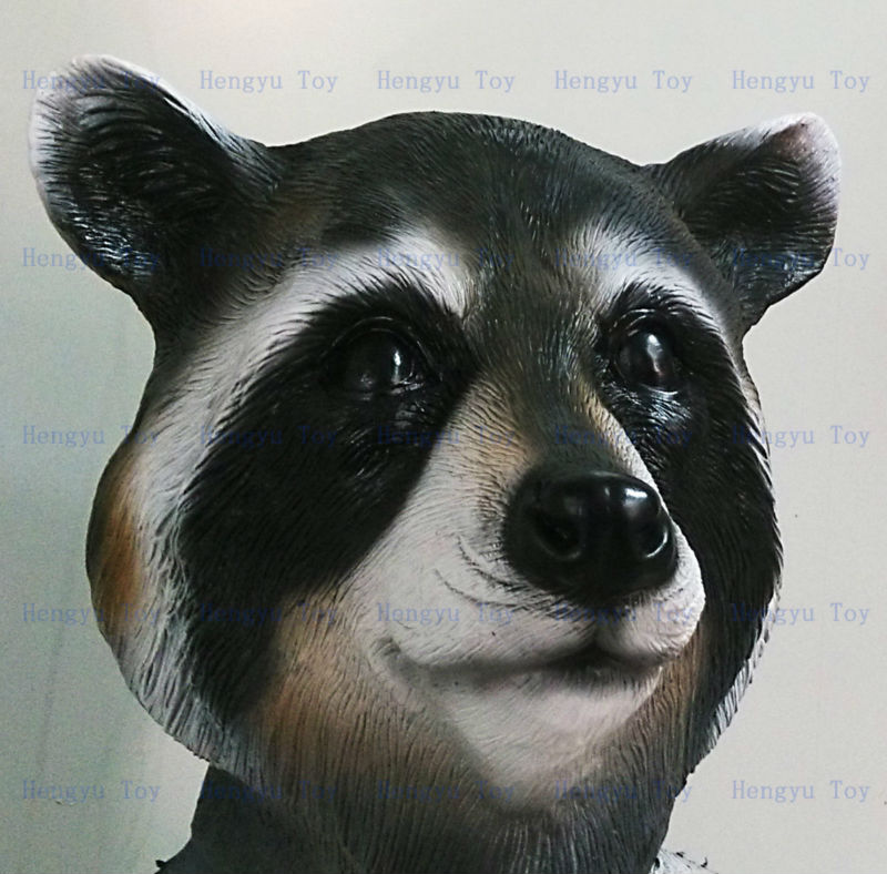 2015 Hot Selling Adult Size High Quality Cosplay Party Animal Head Carnival  Costume Rubber Raccoon Mask - Buy Raccoon Mask,Head Rubber Latex