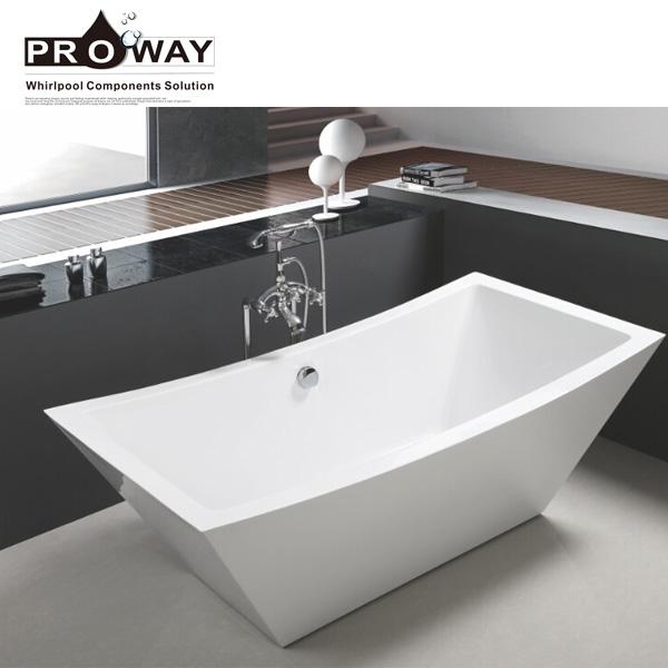 Bath Shower Room Corner Bath Tub Floor Stand Plastic Bathtub For Adult