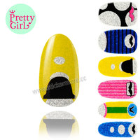 10 NAIL ART STICKERS WRAPS MINIONS DREAM CATCHER PUG FEATHERS WATER TRANSFER DECALS DNS-44