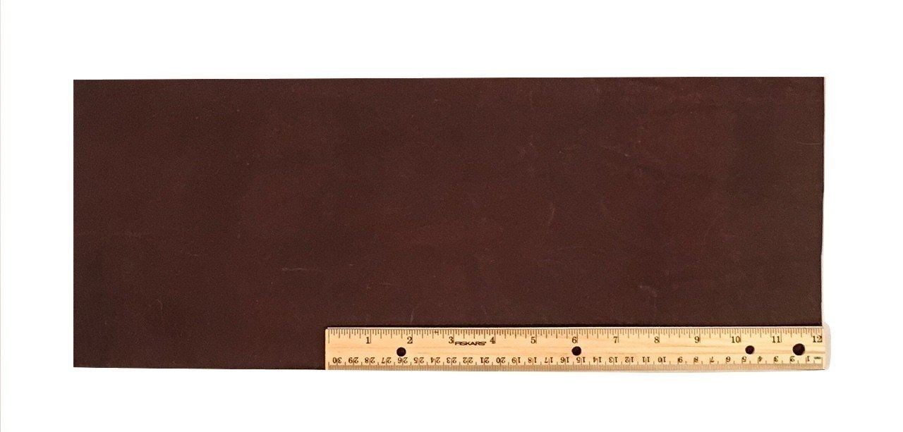 "Scrap Lace Leather Dark Brown Cowhide 18"" X 7+"" Piece #L401"